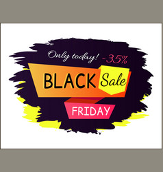 only today -35 black friday vector image
