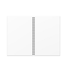 open blank notebook template vector image