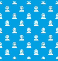 operator pattern seamless blue vector image
