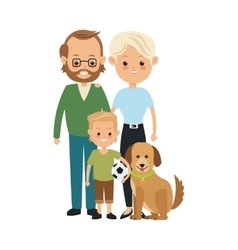 Parents and son icon Family design vector