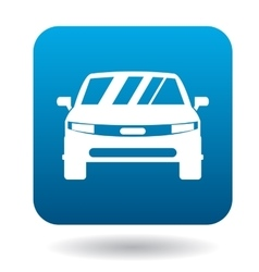 Parked car icon simple style vector