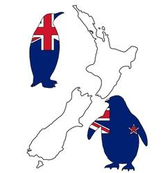 Penguin New Zealand vector