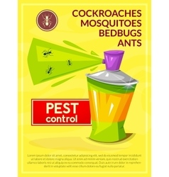 Pest control poster vector
