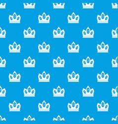 Queen crown pattern seamless blue vector