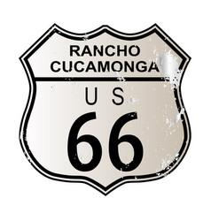 Rancho cucamonga route 66 vector