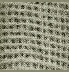 realistic seamless texture of burlap canvas vector image