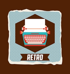 Retro icon vector