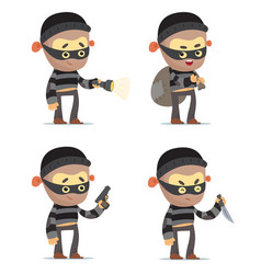 robbers vector image