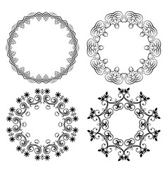 round frames vector image