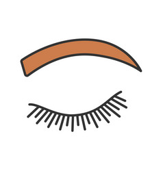 Rounded eyebrow shape color icon vector