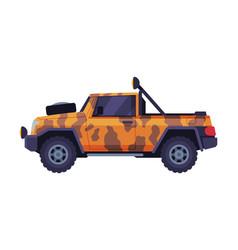 Safari jeep car vehicle for camping hunting and vector
