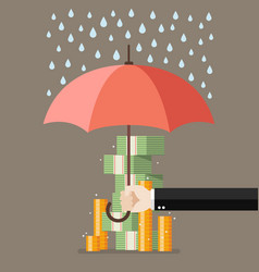 Save for a rainy day vector