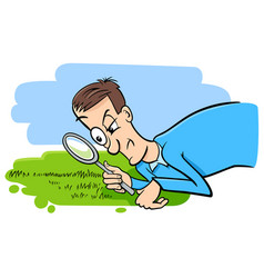 Saying watching the grass grow humor cartoon vector