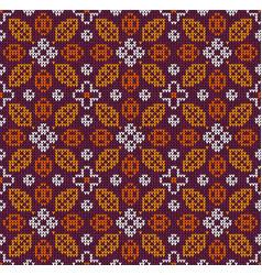 scandinavian autumn thanksgiving knitted seamless vector image
