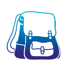 silhouette school backpack education object design vector image