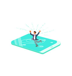 Smart phone addiction concept vector