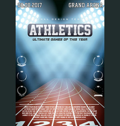 Sporting poster of athletics vector
