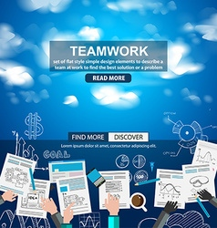 Teamwork Business concept with doodles Sketch vector image