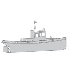 Tugboat vector
