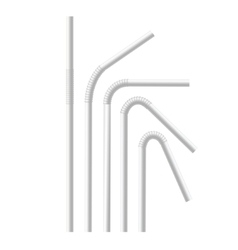 White Drinking Straws Set vector image