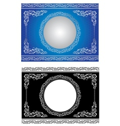white radial ornament vector image