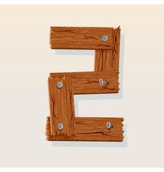 wooden type 2 vector image