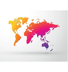 world map 3d color vector image