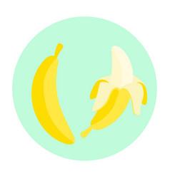 cartoon banana fruit vector image vector image