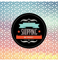 Poster Lets go shoppingTypography vector image vector image