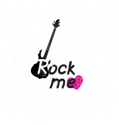 rock music banner musical sign background rock vector image