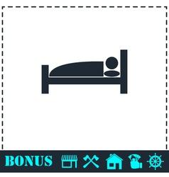 Sleep icon flat vector image