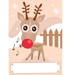 cartoon reindeer vector image vector image