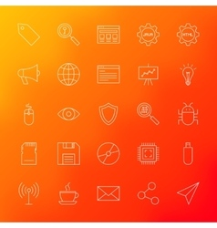 Computer Line Icons vector image vector image