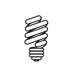 figure sticker eco bulb icon vector image