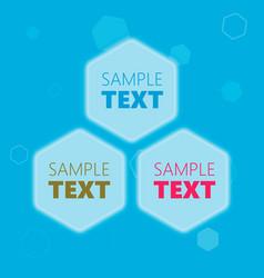 hexagonal text frames vector image vector image