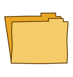 Light colored hand drawn silhouette of folder vector