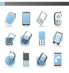 Mobile phones - logo template set vector image