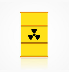 nuclear waste barrel icon in flat style vector image