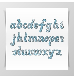 Original handwritten Latin Alphabet vector image