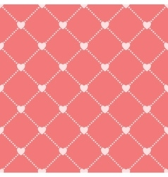 Seamless love background with hearts vector image vector image