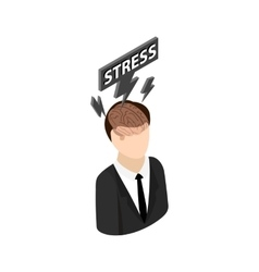 Stress icon isometric 3d style vector image