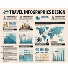 travel set elements of infographic vector image vector image