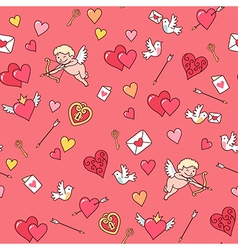 valentine card pattern vector image vector image