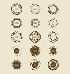 vintage halftone dotted banners collection vector image vector image