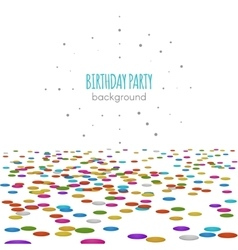 Confetti floor surface pattern isolated on vector image vector image