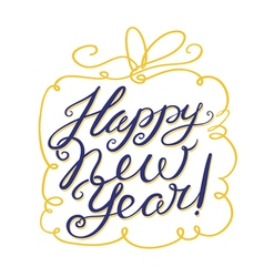 Happy New Year lettering composition vector image