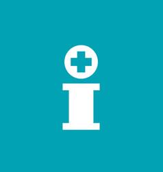 Letter i cross plus logo icon design template vector