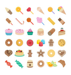set of candy vector image