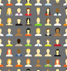 account icons seamless background vector image
