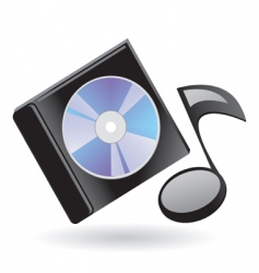 disk and note vector image vector image